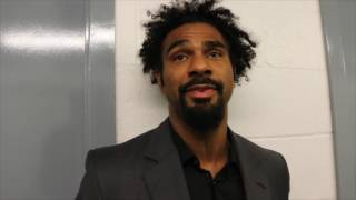 'TONY BELLEW WOULD GET DESTROYED' - DAVID HAYE REACTS TO HIS RINGSIDE CLASH WITH BELLEW IN LIVERPOOL