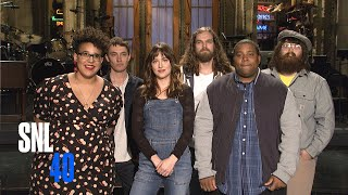 Dakota Johnson Shocked To Hear She Can Remain Clothed For SNL Promos with Alabama Shakes