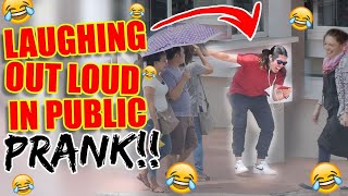 Laughing Out Loud In Public Prank!!!!