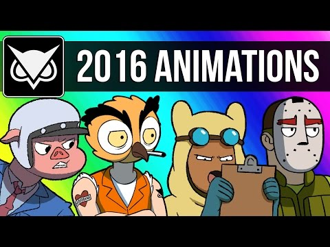 VanossGaming Animated 2016 Compilation Moments from Gmod GTA 5 Cod Zombies & More