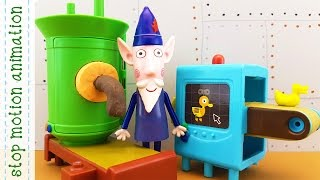 The Elf Factory Wise Old Owl's Toys Making Machine Ben & Holly's Little Kingdom Stop Motion Anima