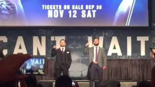 UFC Press Conference Jeremy Stevens Frankie Edgar Staredown