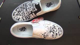 Painting on Some Shoes