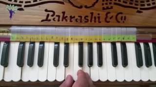 Harmonium Tutorials on Vaishnav Bhajans Jaya Radha Madhav Jaya Kunjabihari