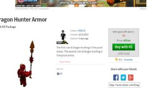 Roblox - Dragon Hunter Armor Removed!!!