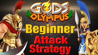 Gods of Olympus | Beginner Attack Strategy - Zeus Athena & Ares