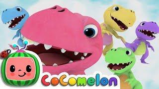 Five Little Dinosaurs | CoCoMelon Nursery Rhymes & Kids Songs