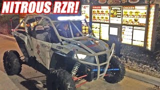 Nitrous RZR 1000 On The STREETS + Drive-Thru!
