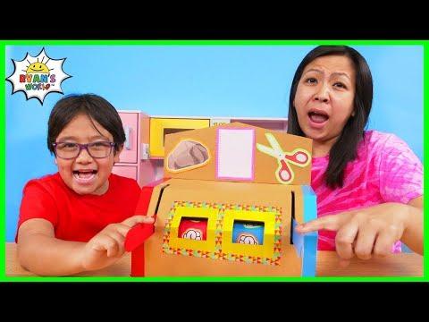 How to make DIY Rock Paper Scissors Machine from Cardboard