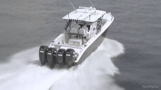 Midnight Express 39S Cuddy Powered by Quad Mercury Marine 300 Verado Joystick Motors