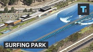 This surfing park creates the perfect wave anytime