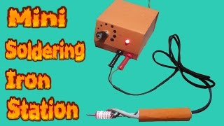 How to make mini soldering iron station Temperature control Battery powered Part-1(Pen)