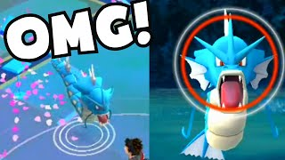 Pokemon Go CATCHING WILD GYARADOS HIGH CP | HOW TO FIND / CATCH RARE POKEMON TIPS AND TRICKS