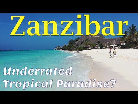 Zanzibar 4K. Tropical Paradise in Africa. Beaches. Sights. People.