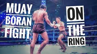 Muayboran fight on the ring