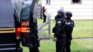 The Lorain SWAT team raided a home at 4308 Camden Ave., in the early morning hours of May 21. Police