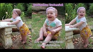 How to Sew / Make Baby Shorts Boys / Girls  | FREE Pattern Easy Beginners Sewing Tutorial | Twizzlez