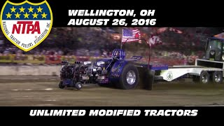 8/26/16 NTPA Wellington, OH Unlimited Modified Tractors