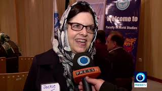 American activists in Tehran to promote dialogue, peace