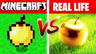 MINECRAFT GOLDEN APPLE IN REAL LIFE! (Minecraft vs Real Life)