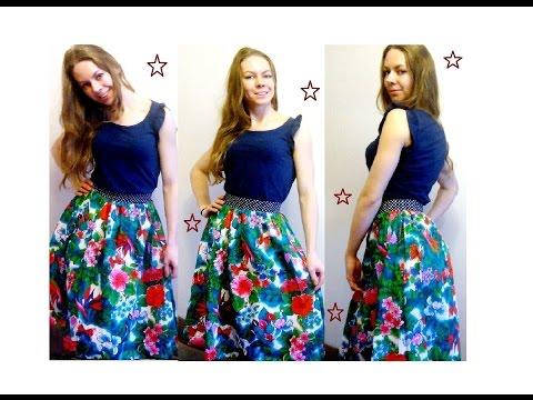 Как сшить летнюю юбку своими руками фото