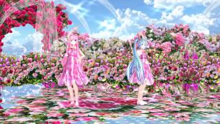 MMD Tda Luka Miku・Illusionary Luna Clock 幻想狂月時計~ルナ・ダイアル~Rose Garden