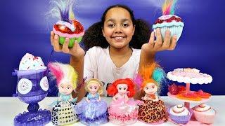 Princess Cupcake Surprise Dolls - Puppy Pets  Party Cake & Ice Cream Set   Kids Toys Review