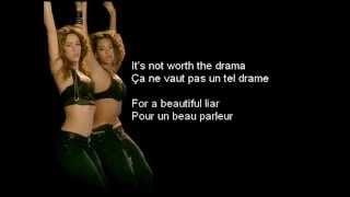 Beyoncé & Shakira - Beautiful Liar (Lyrics/Traduction)
