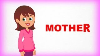 Mother - Family And Me  - Pre School - Learn Spelling Videos For Kids