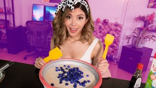 I Tried Making Blueberry Ice Cream Rolls.. GONE WRONG... again