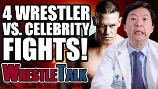 4 Wrestler Vs. Celebrity FIGHTS!