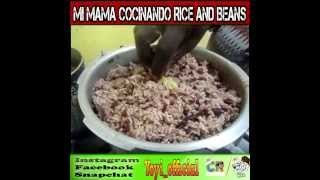 How to cook Rice And Beans / Caribean Food  Abril 2017