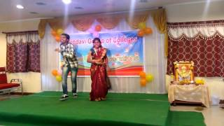 best dance performance for telugu songs at haindavi college annual day 2016