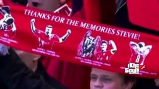 Steven Gerrard family crying on his last game for Liverpool 2015