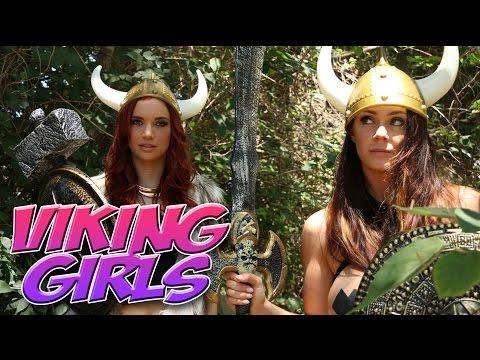 VIKING GIRLS Alison Tyler & Jayden skit & behind the scenes - SLIVAN #386