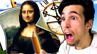 DISEGNARE LA MONNA LISA IN 20 SECONDI?! | Quick, Draw!