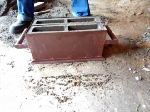Forma manual de 10 para bloco de cimento
