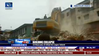 Building Collapse On Lagos Island Claims 8, With 15 Rescued So Far