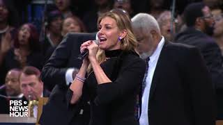 WATCH: Faith Hill performs at Aretha Franklin's 'Celebration of Life' ceremony