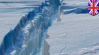 Climate change: 130-km-long crack might cause Antarctic Larsen C ice shelf to break off - TomoNews