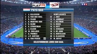 Téléfoot   France Pays Bas Entree joueurs et hymnes