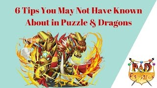 6 Tips You Might Not Know About in Puzzle & Dragons