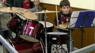 batterie, ACDC  drum cover highway to hell enfant 7ans
