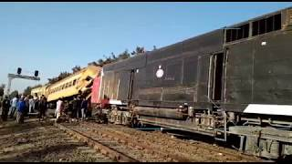 EGYPT || At least 16 killed, 40 injured as two trains collide in Egypt