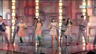 Co-Ed School - Bbiribbom Bberibbom @ SBS Inkigayo 인기가요 101107