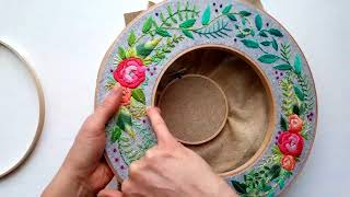 Holiday Wreath Double Embroidery Hoop Tutorial (1 of 2)