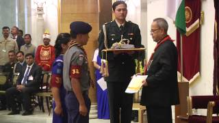 Scouts and Guides Awards at Rashtrapati Bhavan on 16-02-2015