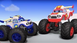 Surprise eggs toys for kids   monster trucks racing toy video for children   Kindergarten jugnu kids