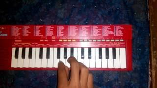 Govyachya kinaryavar song on piano (Casio sa 1)