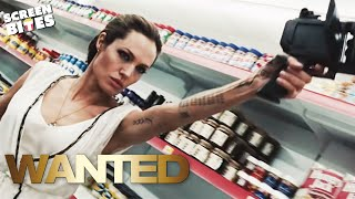 Wanted - Angelina Jolie and  James McAvoy Supermarket Scene OFFICIAL HD VIDEO